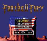 Football Fury SNES Title screen