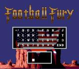 Football Fury SNES Password screen
