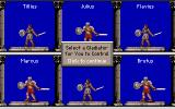 Centurion: Defender of Rome Amiga Selecting your champion for gladiator battle.