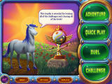 Peggle Windows Bjorn Unicorn stands next to the coveted Extreme Grand Master trophy.