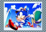 Sonic Jam SEGA Saturn Art with Sonic going to work