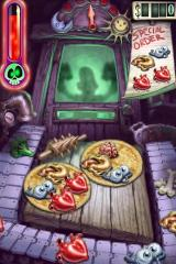 Zombie Pizza iPhone Players will receive 'special order' recipes for bonus points. But watch the 'rage meter' -- the red bar on upper left -- if it fills up, zombies will break down the door and put you on the menu.