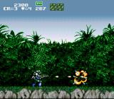 GunForce SNES A destroyed enemy