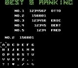 GunForce SNES Enter a name for the high score list