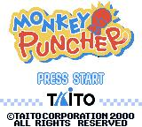 Monkey Puncher Game Boy Color Title screen