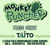 Monkey Puncher Game Boy Color Title screen (Game Boy)