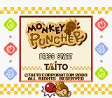 Monkey Puncher Game Boy Color Title screen (Super Game Boy)