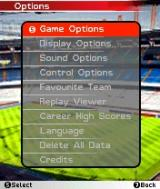 FIFA Soccer 2005 N-Gage Options Menu