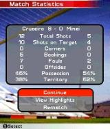 FIFA Soccer 2005 N-Gage Game Match Statistics Screen (Yep! A very easy game...)