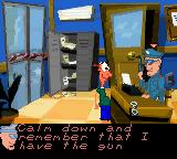 The Fish Files Game Boy Color Police officer