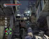 John Woo presents Stranglehold PlayStation 3 Shoot the signs and air conditioners to take out enemies below.