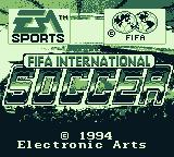 FIFA International Soccer Game Boy Title screen