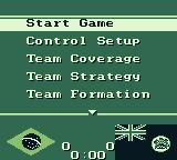 FIFA International Soccer Game Boy Game menu