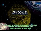 DarXide SEGA 32X Title screen.