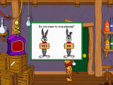 Reader Rabbit Personalized 2nd Grade Windows Exiting game with Rabbit noding yes or no