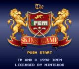 The Irem Skins Game SNES Title screen