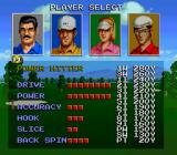 The Irem Skins Game SNES Choose a golfer type