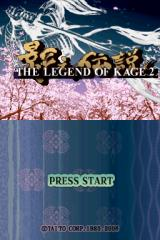 The Legend of Kage 2 Nintendo DS Title screen.