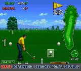 The Irem Skins Game SNES The swing meter in action