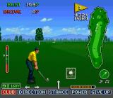 The Irem Skins Game SNES The swing meter is wider in the rough