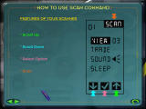 Scan Command: Jurassic Park Windows Scanner display and options