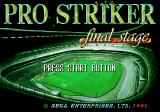 Pro Striker: Final Stage Genesis Title screen