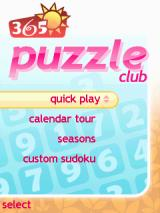365 Puzzle Club J2ME Main menu
