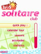 365 Solitaire Club J2ME Main menu