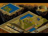 Populous II: Trials of the Olympian Gods DOS Default game world view in hi-res mode