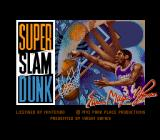 Super Slam Dunk SNES Title screen