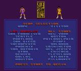 Super Slam Dunk SNES Select a team