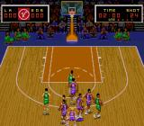 Super Slam Dunk SNES Crowded court