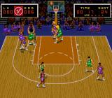 Super Slam Dunk SNES Taking a shot