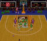 Super Slam Dunk SNES A team celebrating its' win