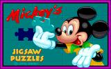 Mickey's Jigsaw Puzzles DOS Title