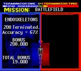 Terminator 2: Judgment Day SNES Points are tallied between levels.