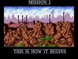 Cannon Fodder 2 Amiga This is how the mission begins.