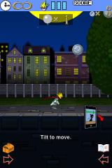 Grappling Action: Moon Dancer iPhone Tilting the iPhone makes you run left or right