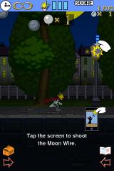 Grappling Action: Moon Dancer iPhone Tapping the screen shoots out the grapple