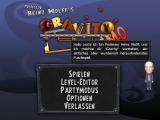 Professor Heinz Wolff's Gravity Windows Main menu (demo version)