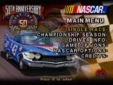 NASCAR 98 (Collector's Edition) PlayStation Main menu