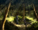 DWK 5: Hinter dem Horizont Windows The protagonists are training in the woods (demo version)