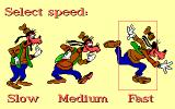 Goofy's Railway Express DOS Option speed setting