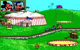 Goofy's Railway Express DOS The big top screen