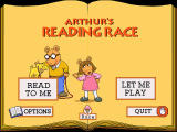 Arthur's Reading Race Windows Menu his sister D.W. and dog Pal