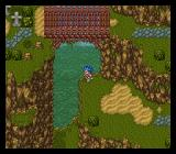 Dragon Quest VI: Maboroshi no Daichi SNES A seemingly quiet area with a cemetery and a bridge