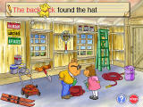 Arthur's Reading Race Windows Mini game Let Me Write allows for objects using drag and drop to change words