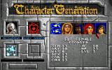Eye of the Beholder Amiga After all statistics have been set, you select a portrait and enter your character's name.