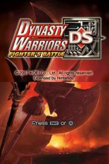 Dynasty Warriors DS: Fighter's Battle Nintendo DS Title screen.