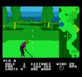 Greg Norman's Golf Power NES Aiming the shot